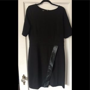 Alfani 3/4 sleeve XL dress with leather Accent
